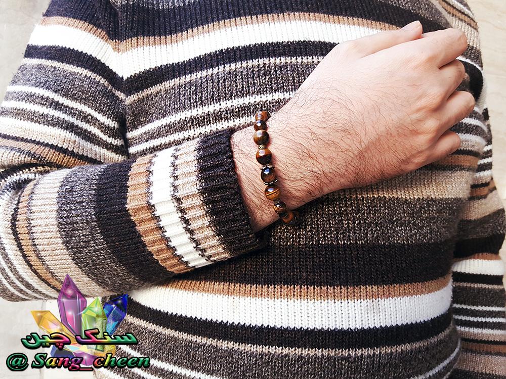 دستبند چشم ببر مردانه