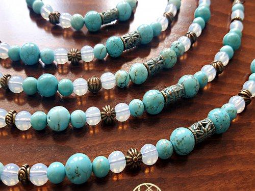دستبند سنگ فیروزه اصل و اپالیت