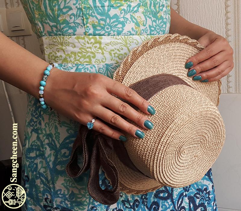 دستبند فیروزه اصل زنانه