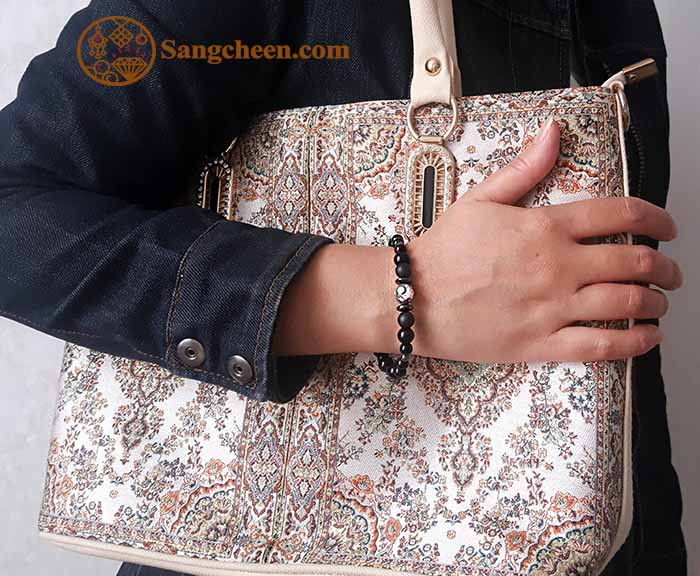 دستبند سنگ اونیکس اصل