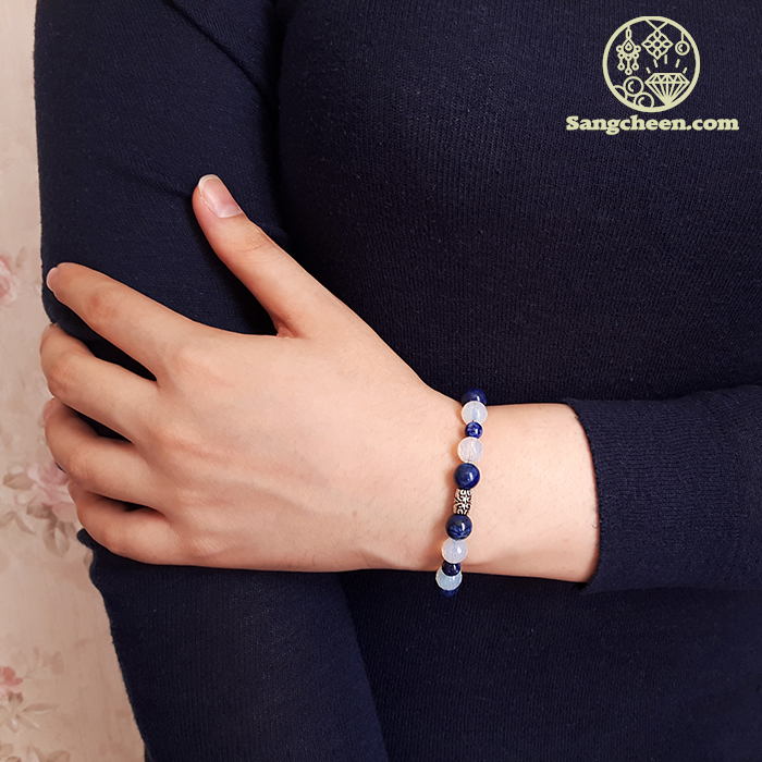 دستبند سنگ لاجورد زنانه و مردانه