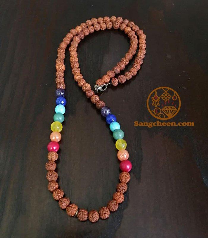 گردنبند رودراکشا هفت چاکرا اصل